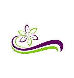 Flower ecology abstract beauty logo vector