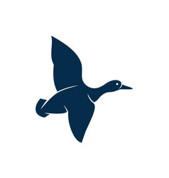 flying duck isolated bird fowl wild geese poultry vector image