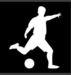 Footballer it is white color icon vector