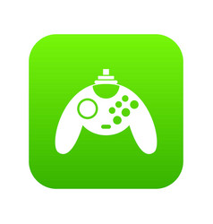 gamepad icon digital green vector image