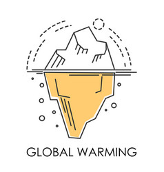 Global warming glacier melting isolated icon vector