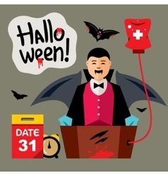 Halloween vampire revival cartoon vector