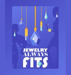 Jewelry store typographic poster vector