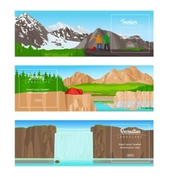 Journey or camping banner set vector