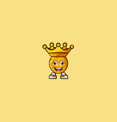 King pineapple cartoon character vector