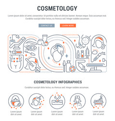 Linear banner cosmetology vector