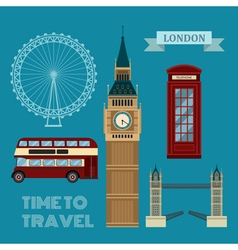 London Symbols Travel Time Set vector image