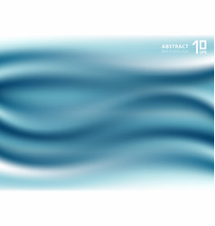 luxury beautiful blue cloth or liquid wave vector image