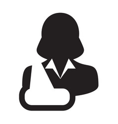 medical icon of female person profile avatar vector image