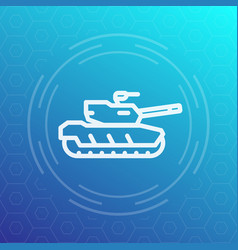 Modern tank icon heavy armoured combat vehicle vector