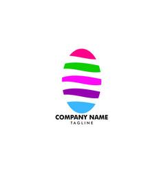 nail art studio logo template design vector image