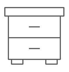nightstand thin line icon furniture and home vector image