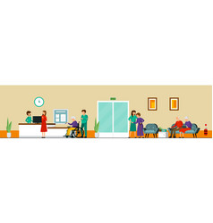 Nursing home characters composition vector