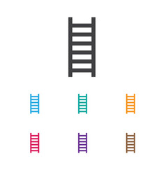of healthy symbol on stairs vector image
