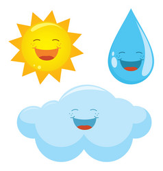 Of weather icons vector