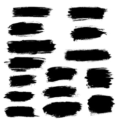 Paint brush marker highlighter strokes vector image