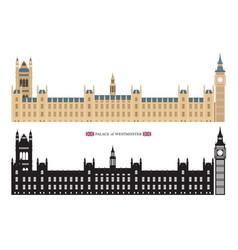 palace westminster and big ben london england vector image