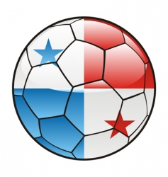 panama flag on soccer ball vector image