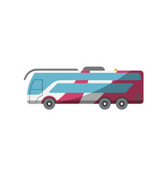Passenger bus for plane boarding icon vector