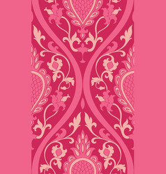 pink pattern with damask vector image