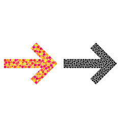 Pixel arrow right mosaic icons vector