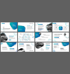 presentation and slide layout background design vector image