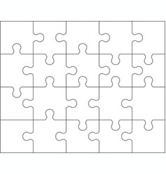 puzzle separate pieces vector image
