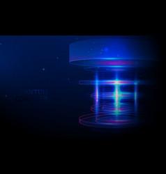 quantum computer big data visualization vector image