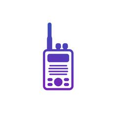 Radio set portable transceiver icon on white vector