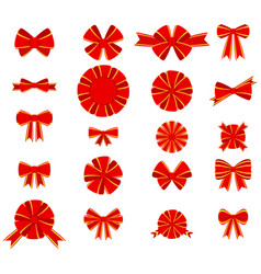 red bow for decorating gifts vector image