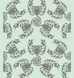 repaint seamless pattern scorpions vector image