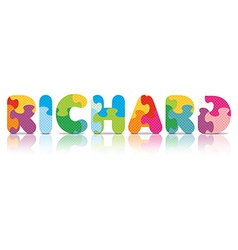 Richard written with alphabet puzzle vector