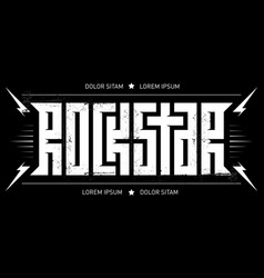 rock star - typography for t-shirt design vector image