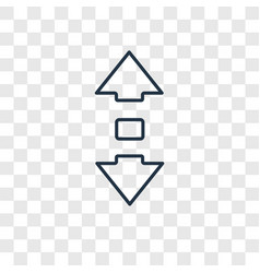 Scroll concept linear icon isolated on vector