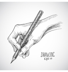 Sketch hand pencil vector