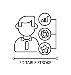 Skills and abilities linear icons vector