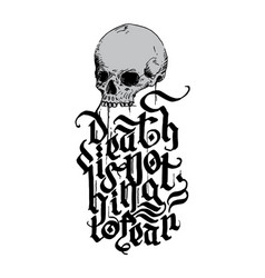 Skull-nofear-halloween vector