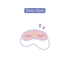 Sleep mask flat icon vector