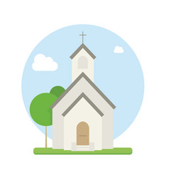 small urban church flat vector image