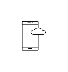smatphone cloud icon vector image