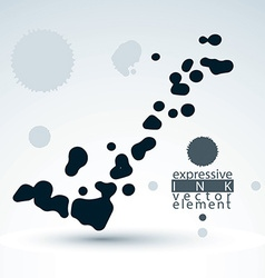 Splattered monochrome web design element art ink vector