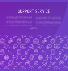 support service concept vector image