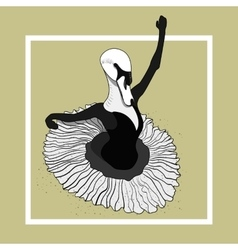 swan ballerina dancing in a skirt vector image