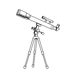 Telescope object coloring book vector