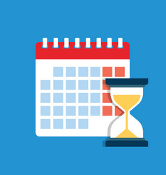 time management dates and deadlines banner vector image