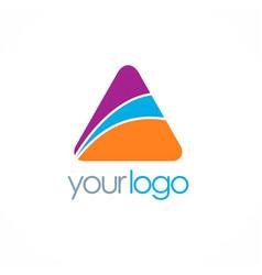 triangle colored logo vector image