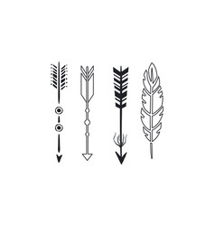 tribal arrows set black vintage arrows and vector image