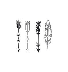 tribal arrows set black vintage arrows vector image