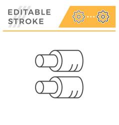tube insulation line icon vector image