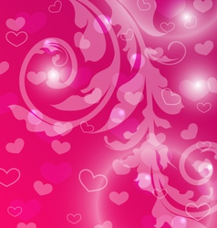 Valentine Day template with abstract floral vector image